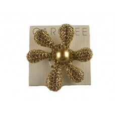 Carolee Gold Rhinestone and Pearl Brooch