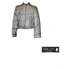 Luca Luca White Leather Jacket