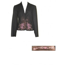 Bandolino Women's Brown Jacket with Floral Design