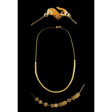 Kenneth Jay Lane Gold Beaded Necklace