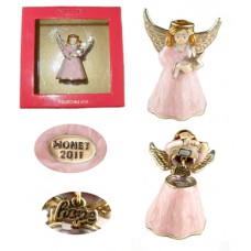 Monet Multi-Gold Star Angel Collectible Box