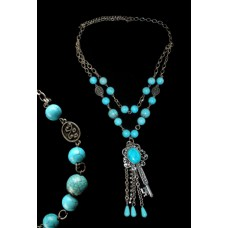 Fabulous Finds Turquoise Necklace with Key