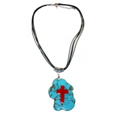 Fabulous Finds Turquoise Necklace with Cross