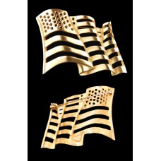 Goldtone American Flag Brooch
