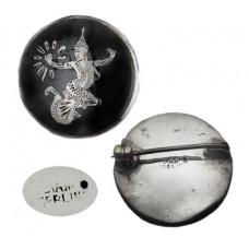 Vintage Nello Siam Sterling Dancer Pin