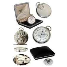 Waltham 14K WGF Open Face Secometer Pocket Watch