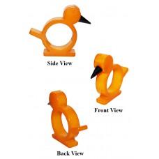 Amber Bakelite Figural Bird Carved Napkin Ring