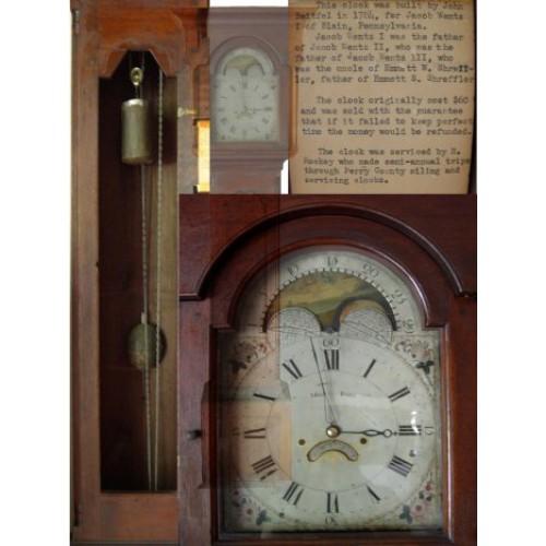 Philadelphia Walnut Tallcase Clock by John Beitfel