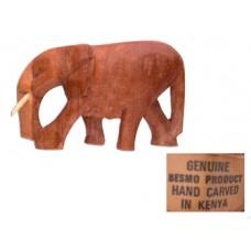 Vintage Besmo Hand-Carved Elephant - Kenya