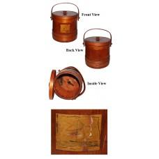 Primitive Firkin Wooden Sugar Bucket