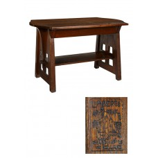 Limbert Arts & Crafts Oak Turtle Top Table-Library