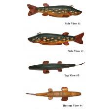Vintage Wooden Trout Fish Decoy
